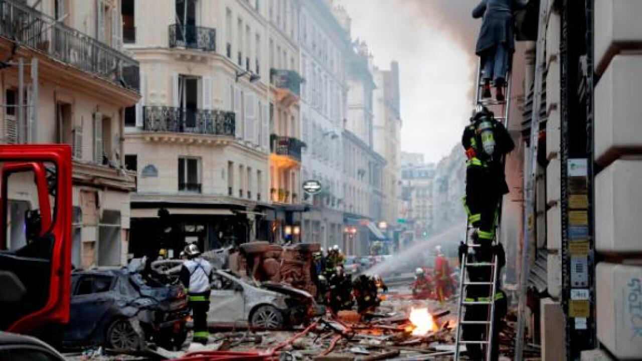 Two firefighters killed, dozens hurt in Paris explosion