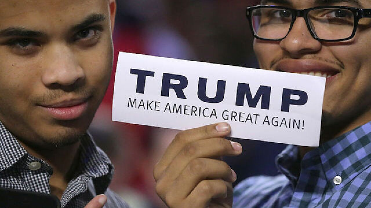 Young Trump supporters driven by economy and #NeverHillary