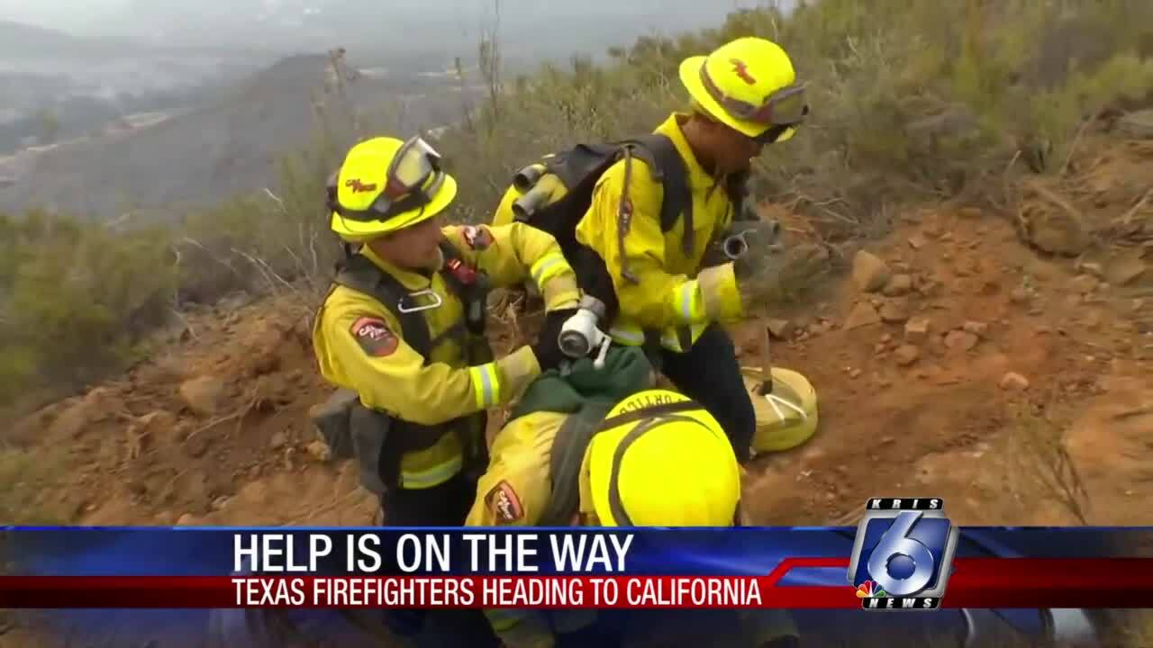 Texas firefighters have been deployed to California by Gov. Greg Abbott