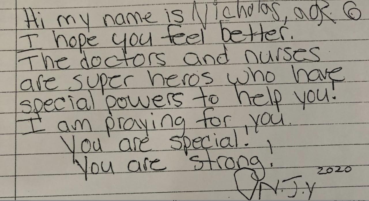 Nicholas letter to patients