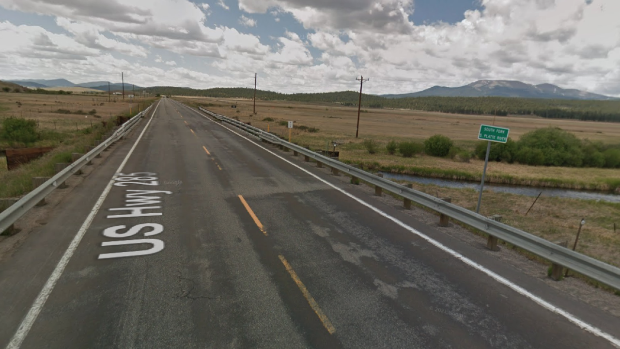 US 285 over South Fork
