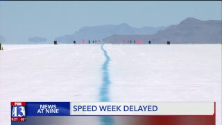 Wet ground at Bonneville Salt Flats delays Speed Week races; planned forTuesday
