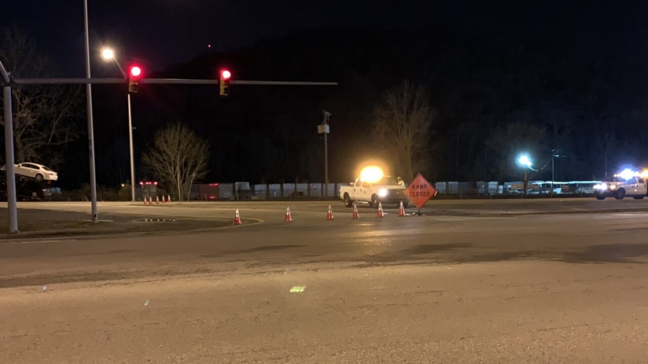 Portion of I-24 Eastbound closed for at least a week after