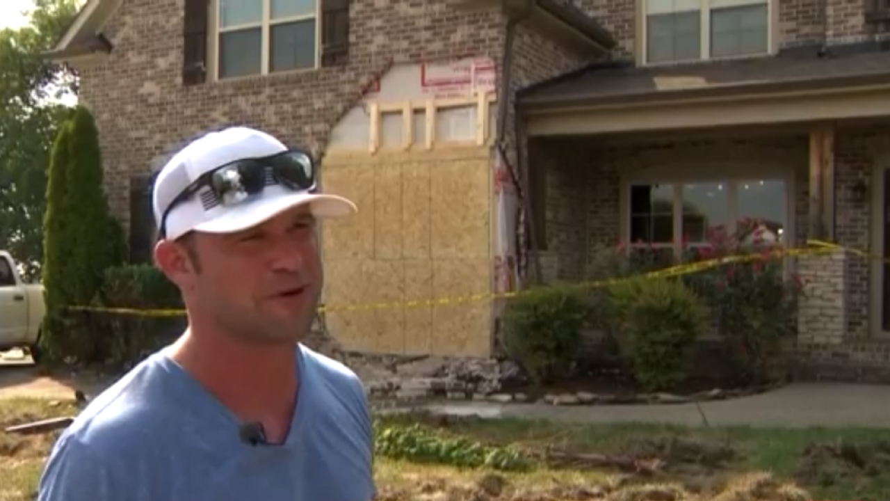 Tennessee homeowner had to rush out of shower to stop bulldozer from destroying his home