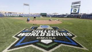 FILE College World Series Baseball