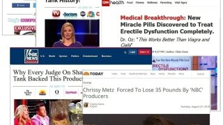 Fake news websites that look like CNN, FOX and CNBC are trying to sell you weight loss products