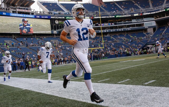 PHOTOS: Yes, Andrew Luck really did play Thursday!