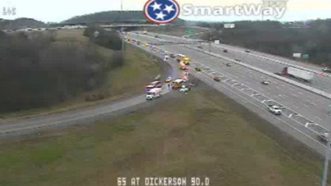 School Bus Involved In Crash On I-65 South