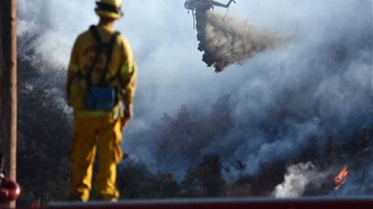 Crews make major gains against Southern Calif. wildfire