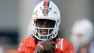 Miami Hurricanes tight end Michael Irvin II in 2016