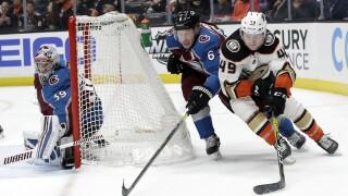 Avs' Francouz gets first NHL shutout against Anaheim 1-0