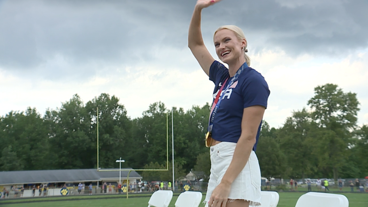 Olympic champion Katie Nageotte honored with homecoming celebration in Olmsted Falls