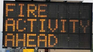 Granite Pass Fire Activity Sign