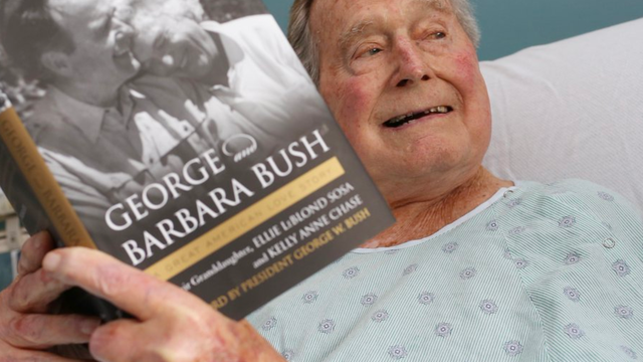 Hospitalized George HW Bush tweets cheery message about wife