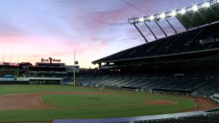 kauffman stadium at sunrise