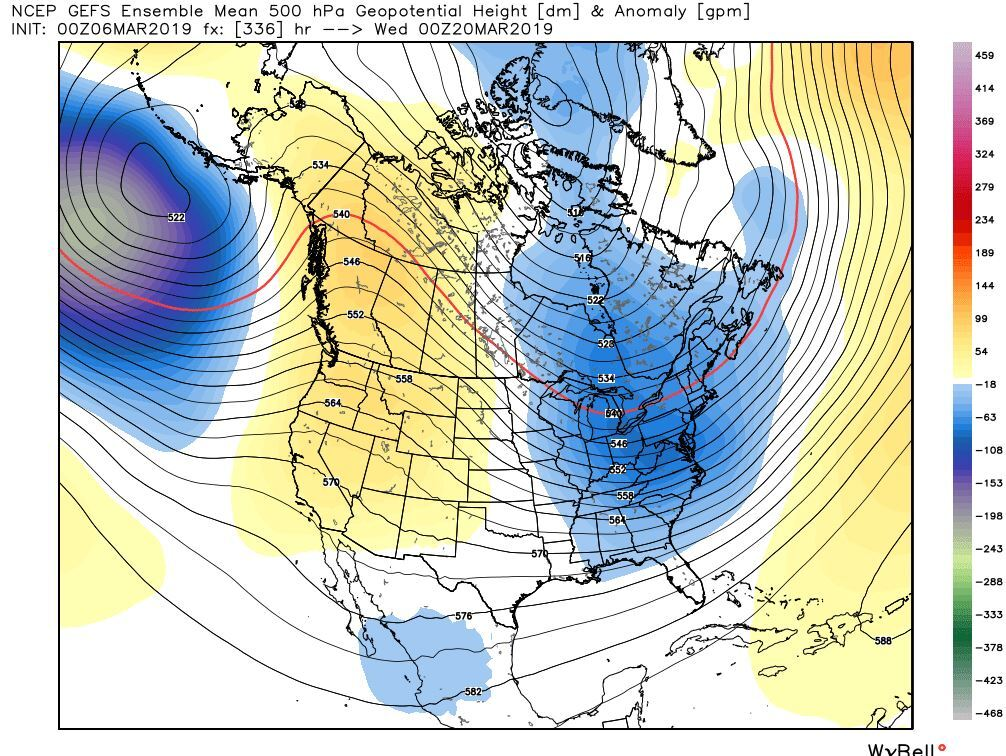 Long Range GFS Ensembles Suggesting Cold Into Late March