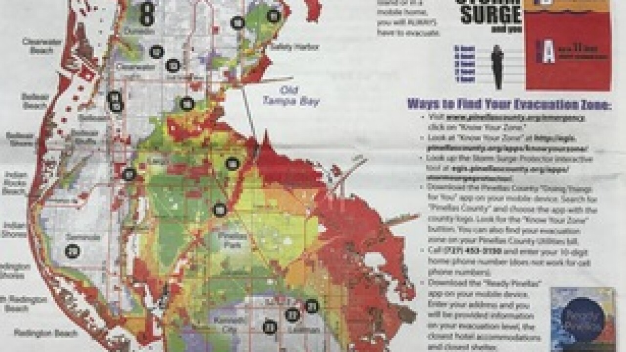 Pinellas County evacuation zones changing on