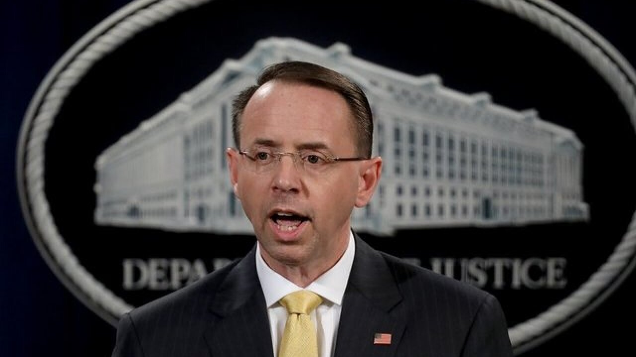GOP lawmakers push to impeach Rosenstein for handling for Russia probe