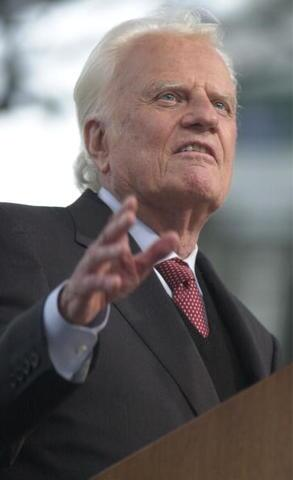 Billy Graham: See photos from pastor's sermons through the years