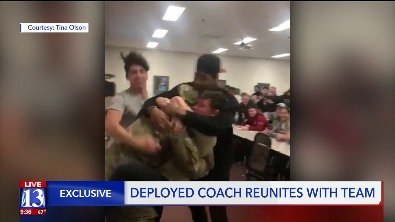 Coach who went from the end zone to a war zone surprises his students and athletes at Northridge High
