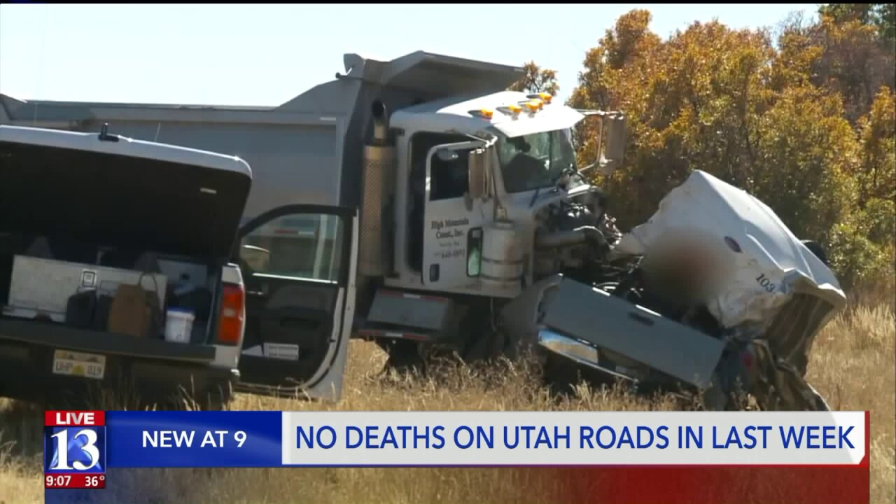 Utah sees first week in three years without road fatality, UDOT says