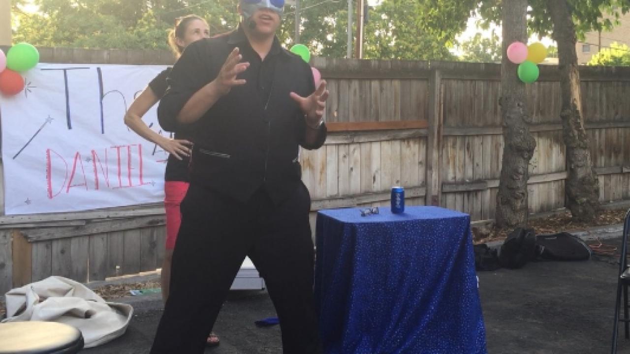 Magician Daniel Schaffer