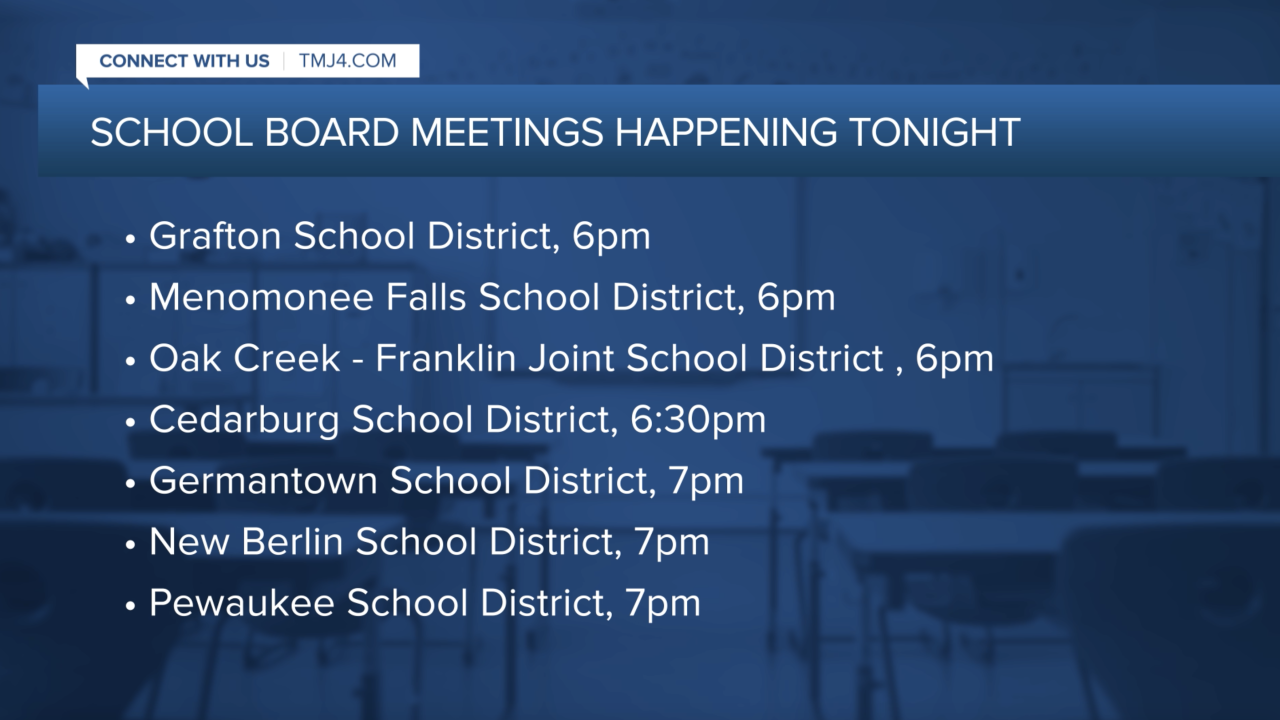 School boards meeting tonight