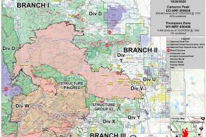 Cameron Peak Fire map_Oct 28 2020