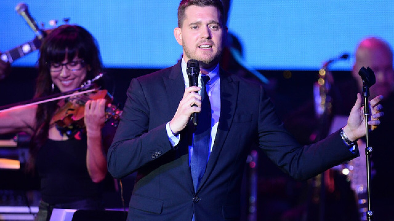 Michael Buble says 3-year-old son has cancer, puts career on hold