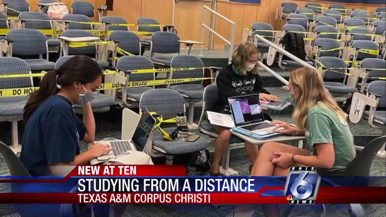 Texas A&M-Corpus Christi nursing students adapting to social distancing
