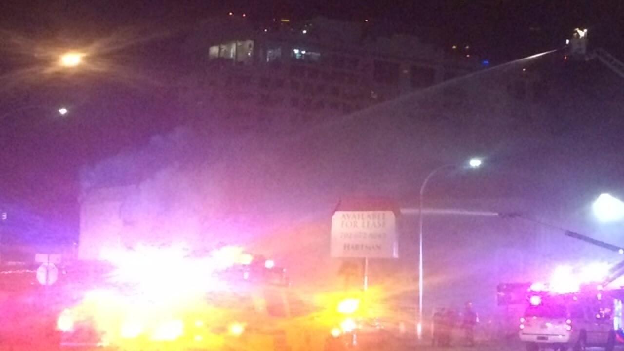 2-alarm fire reported near downtown Las Vegas