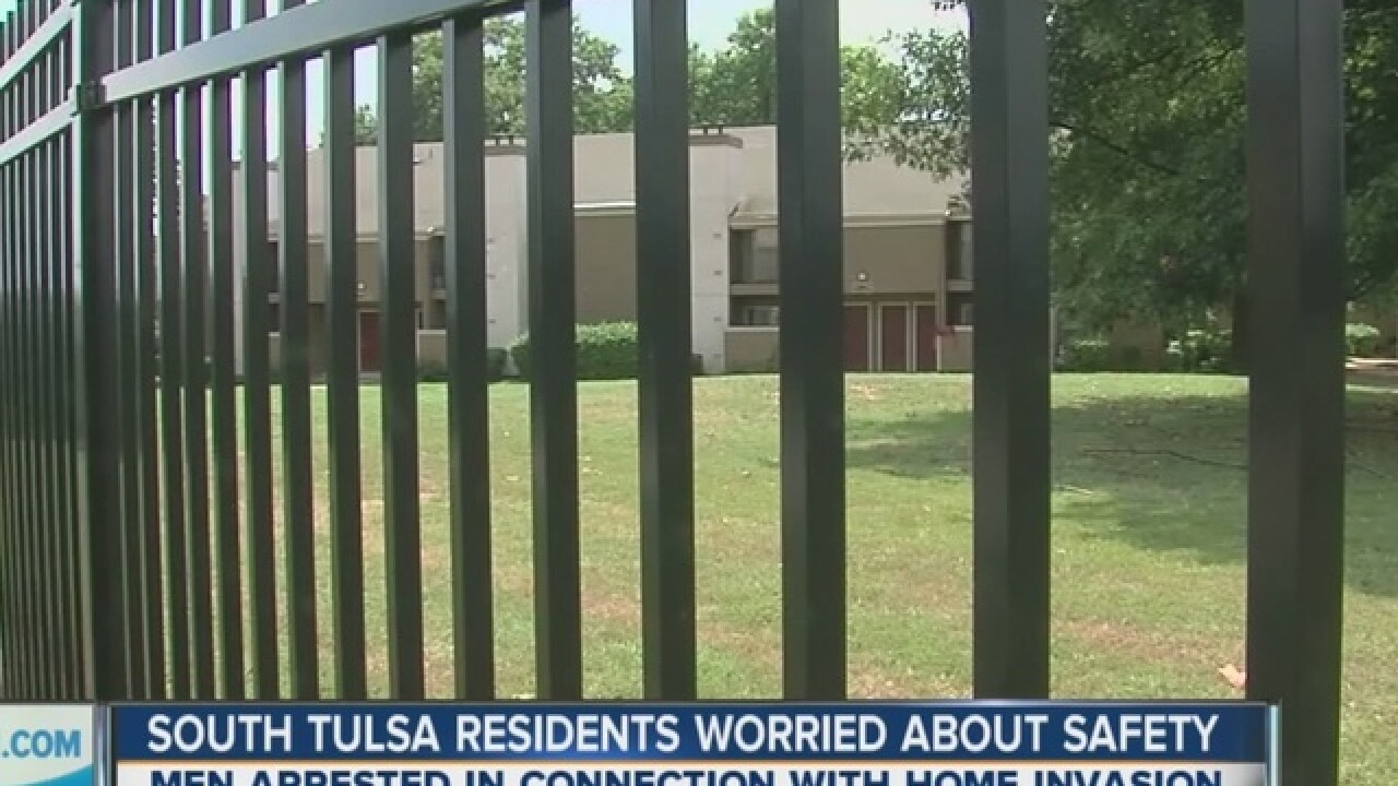 Woman hospitalized after S. Tulsa home invasion
