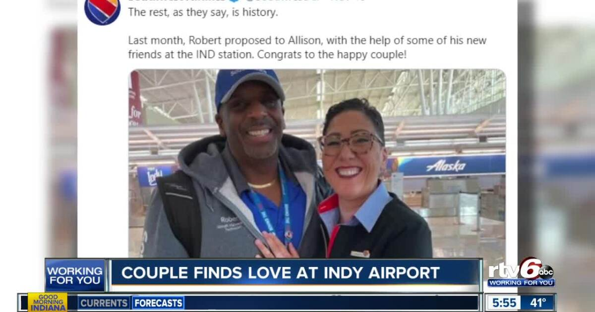 Couple finds love at Indy Airport through Southwest Airlines