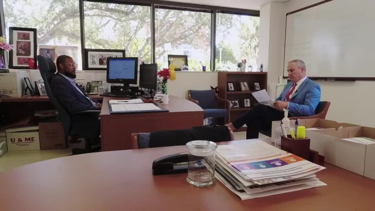 Michael Buczyner speaks with James Green, director of Palm Beach County Community Services Department, about closing rental assistance portal