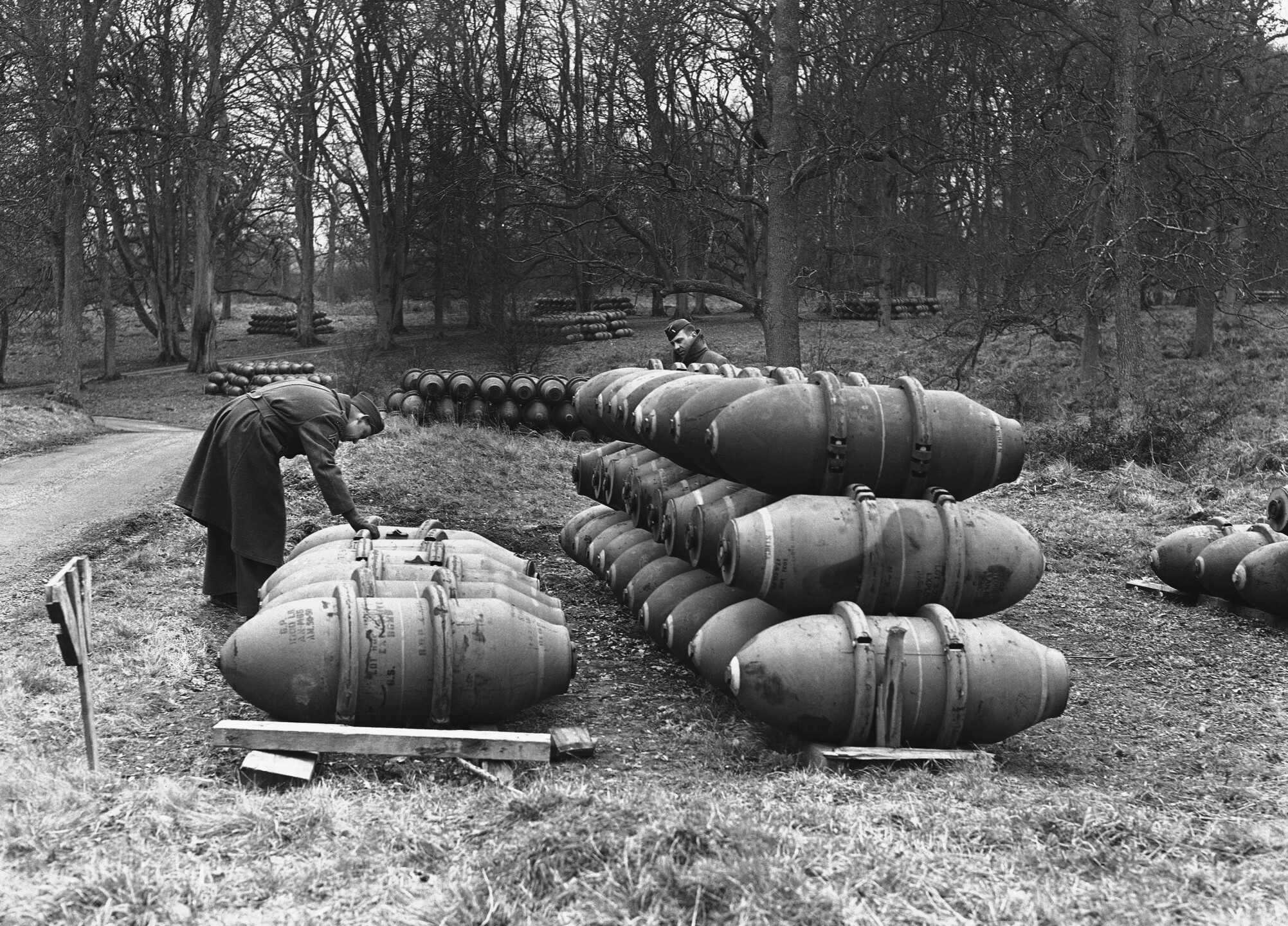 WWII England Bombs Stacked