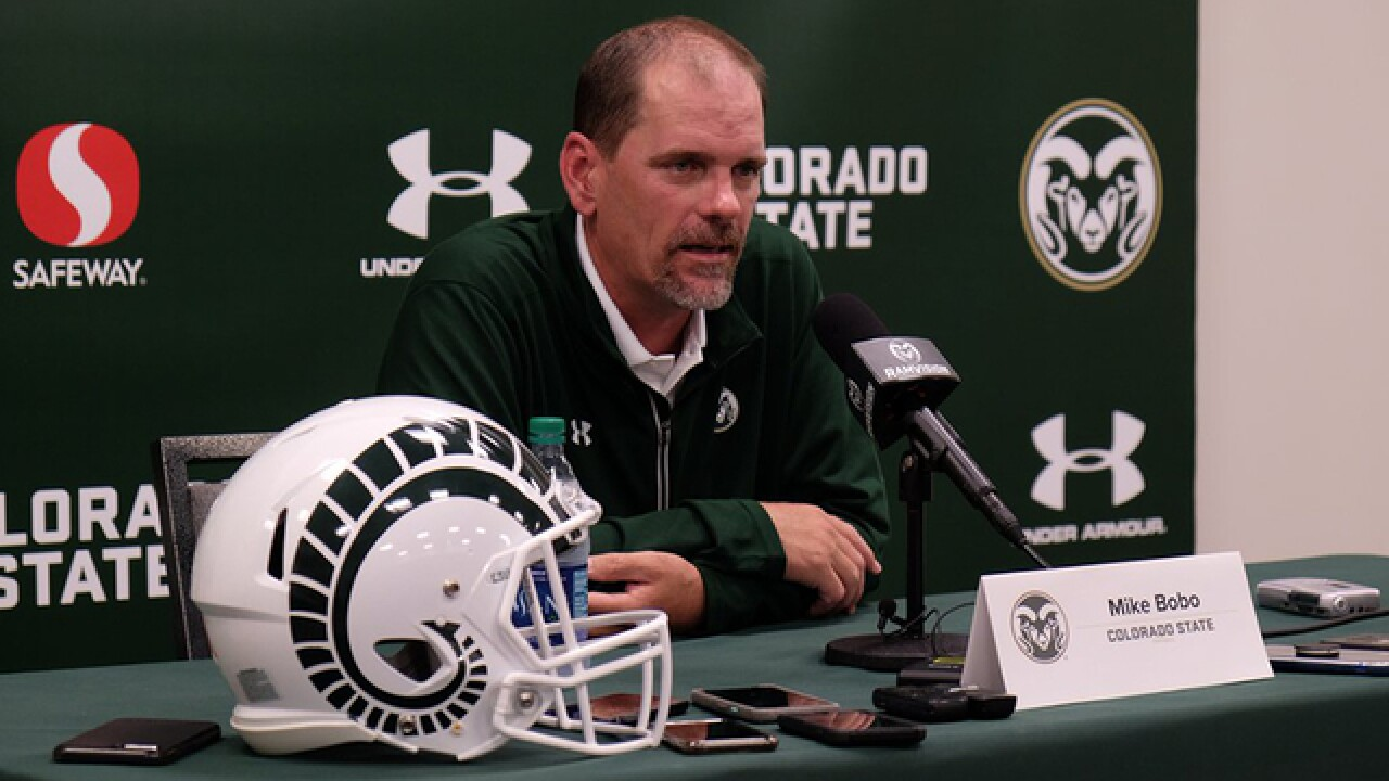 CSU coach Mike Bobo remains out as staff prepares for opener