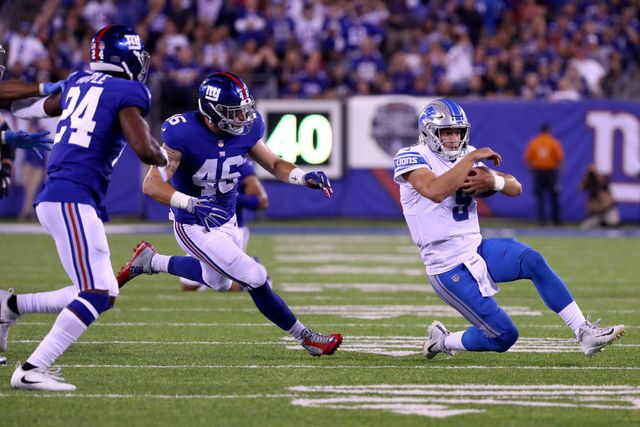 Photo gallery: Best photos as Lions beat Giants on Monday Night Football