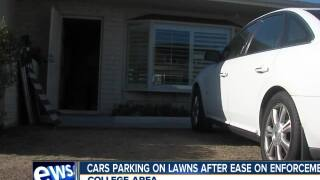 Lawn parking increasing in College Area