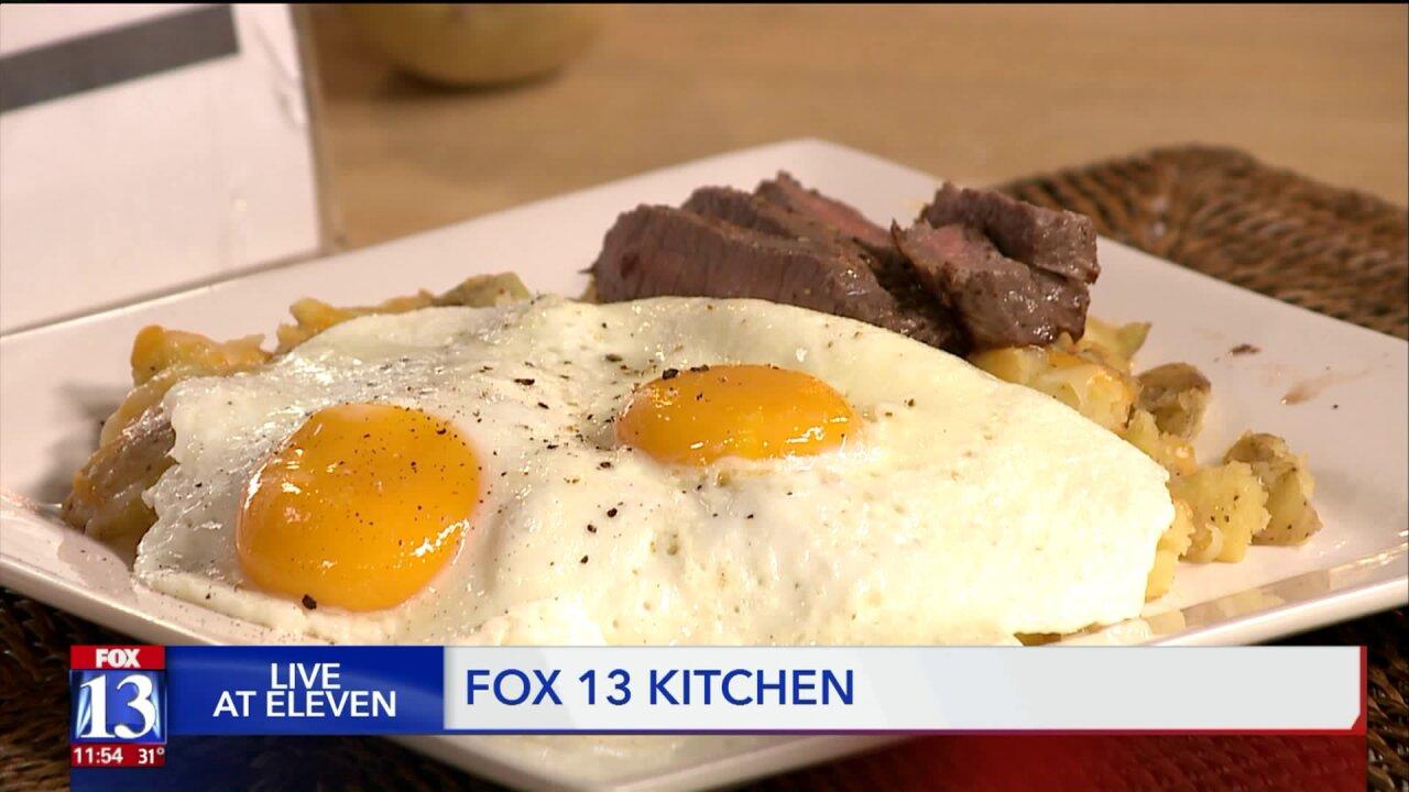 Ragin' Cajun Steak, Eggs and PotatoBreakfast