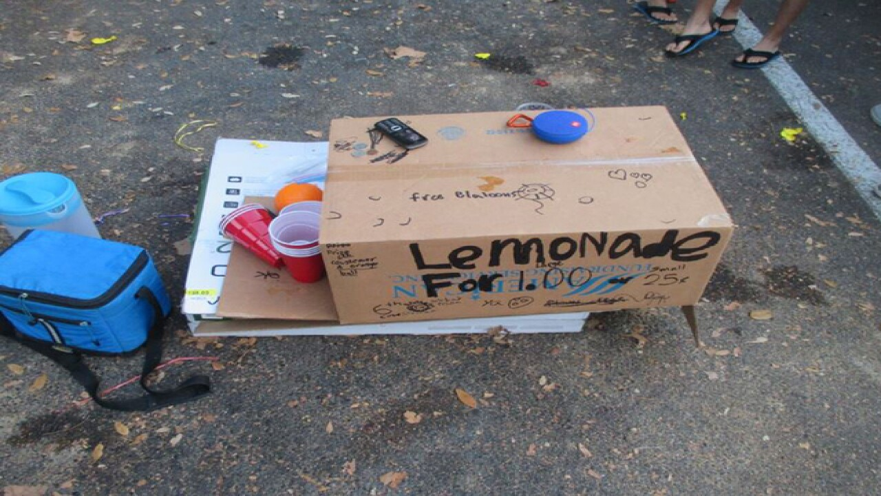 9-year-olds robbed at lemonade stand