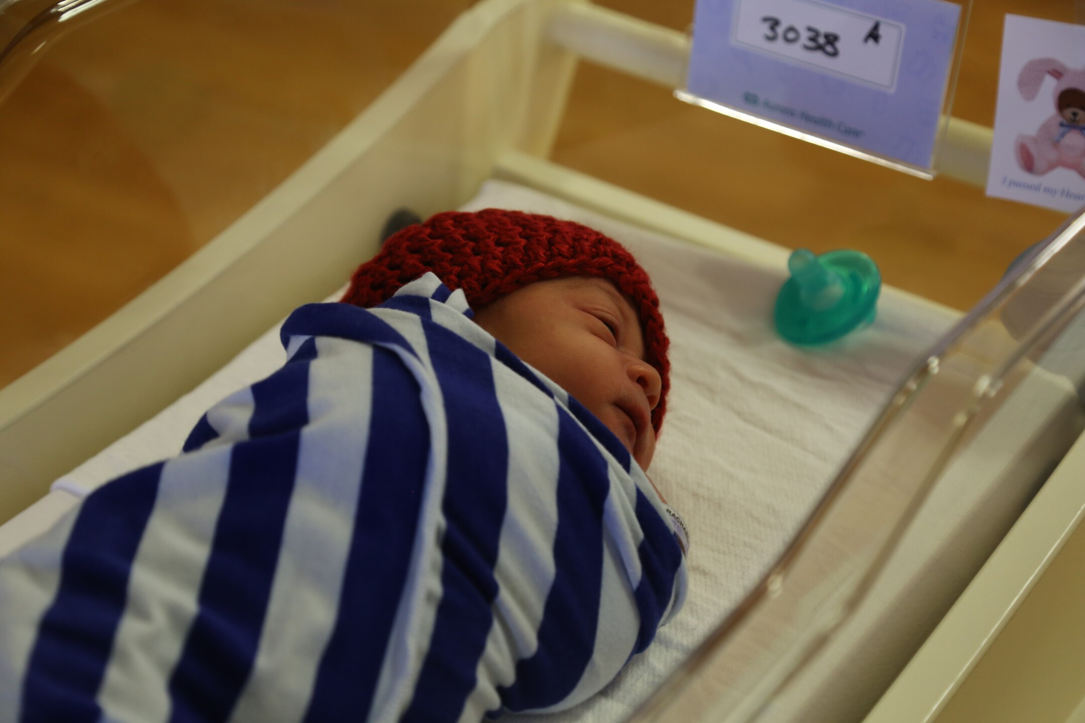 Newborn babies across Aurora Health Care are wearing little red hats to raise awareness about heart disease