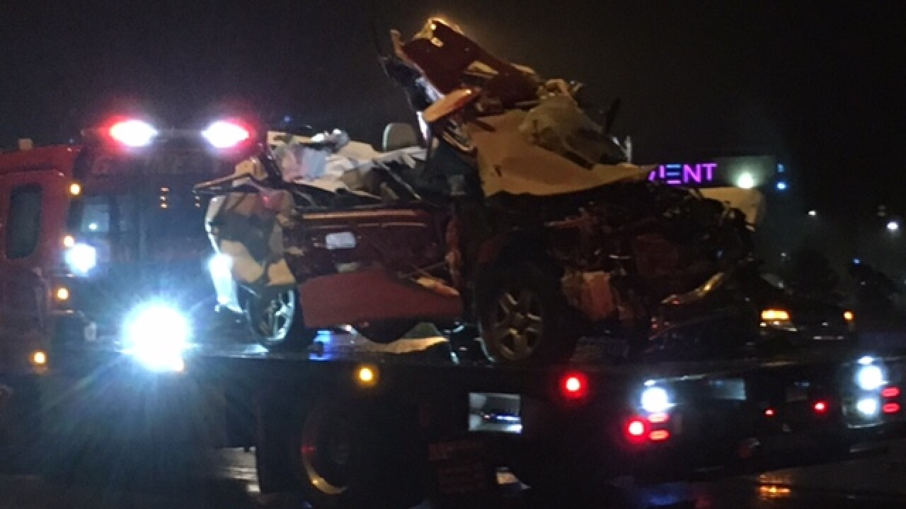 Deadly crash involving semi, vehicle closes part of I-69 in Fishers