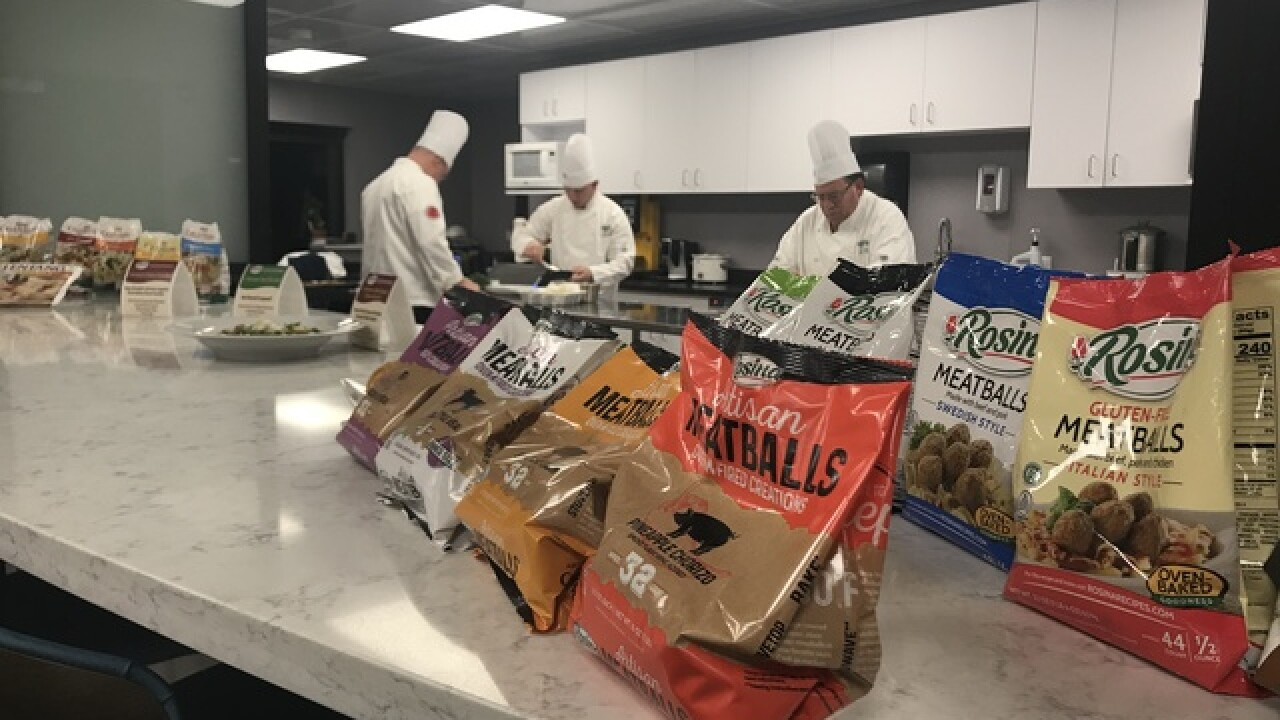 Make pasta and meatballs for all at Rosina Foods