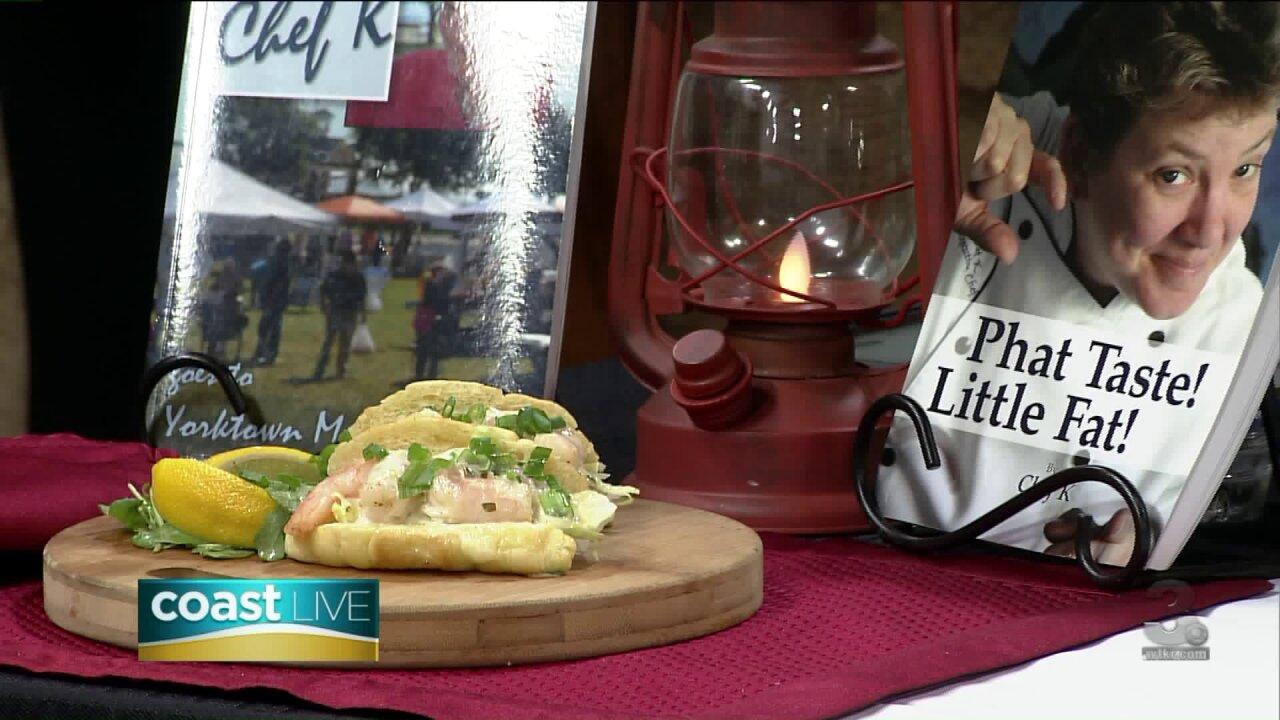 Making Mini Shrimp Po'boys with Chef K on CoastLive