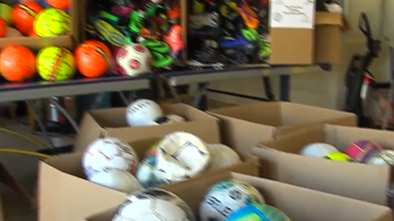 Local teen donates soccer balls to kids in need