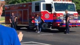 Blue Ash Fire Ride to School