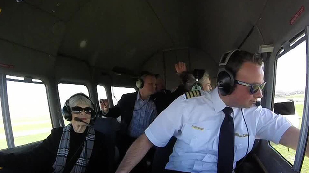 VIDEO: Woman, 94, takes ride in Goodyear blimp