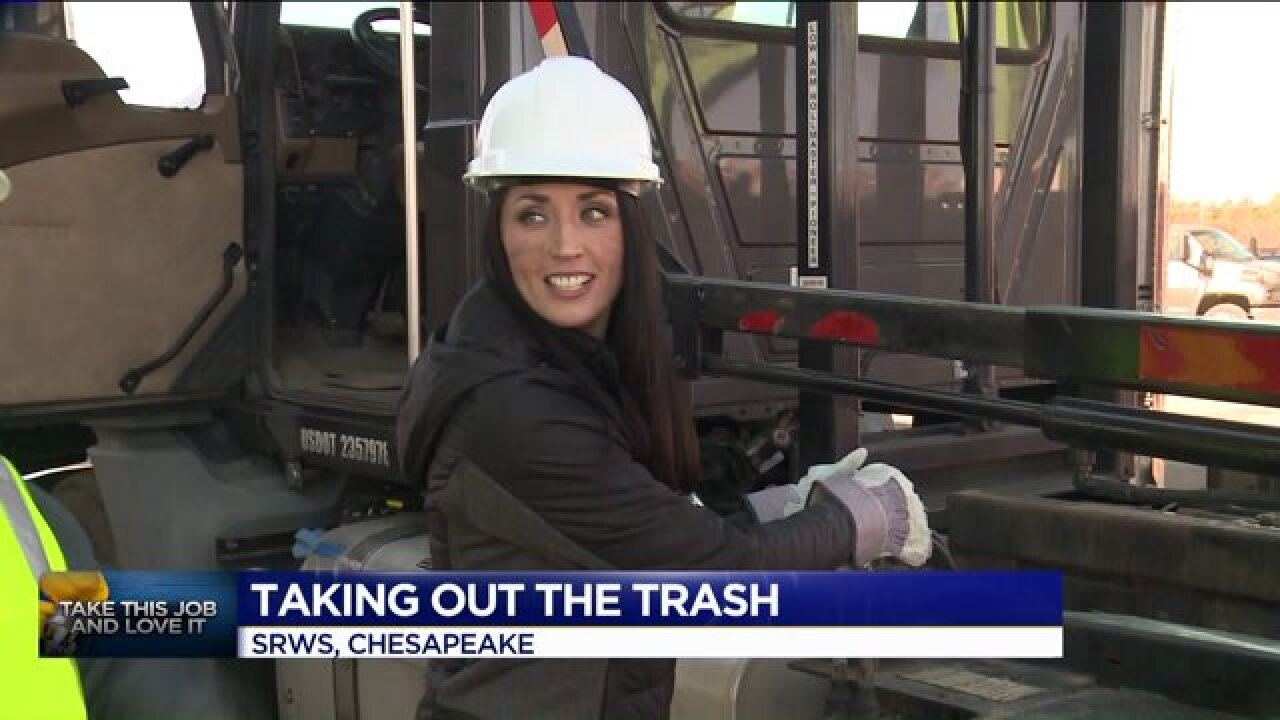 Take This Job and Love It: Kristen takes out thetrash