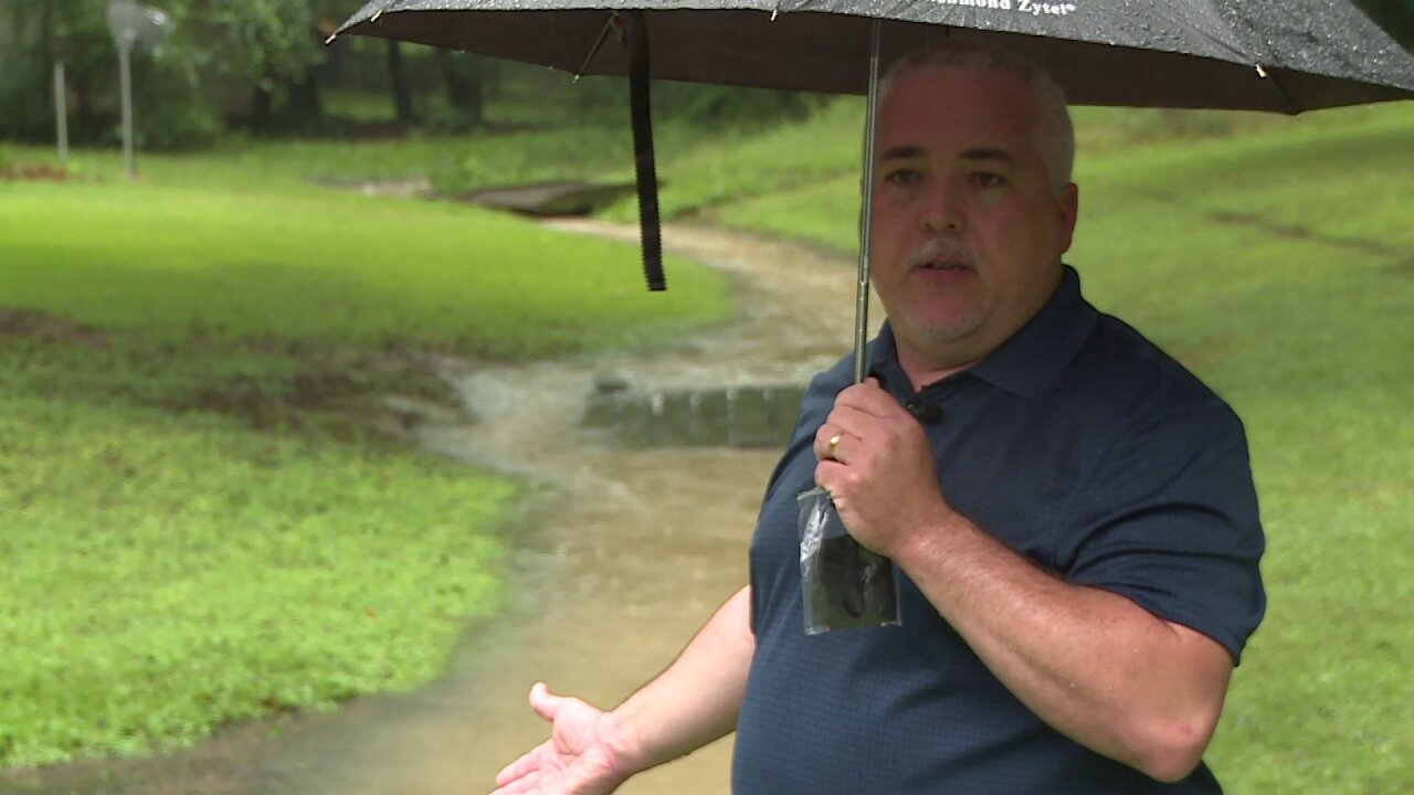 Chester resident say drainage ditch is overflowing, causing neighborhood flooding