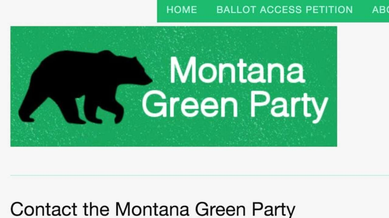 Green Party candidates, voters sue to remain on MT 2020 ballot